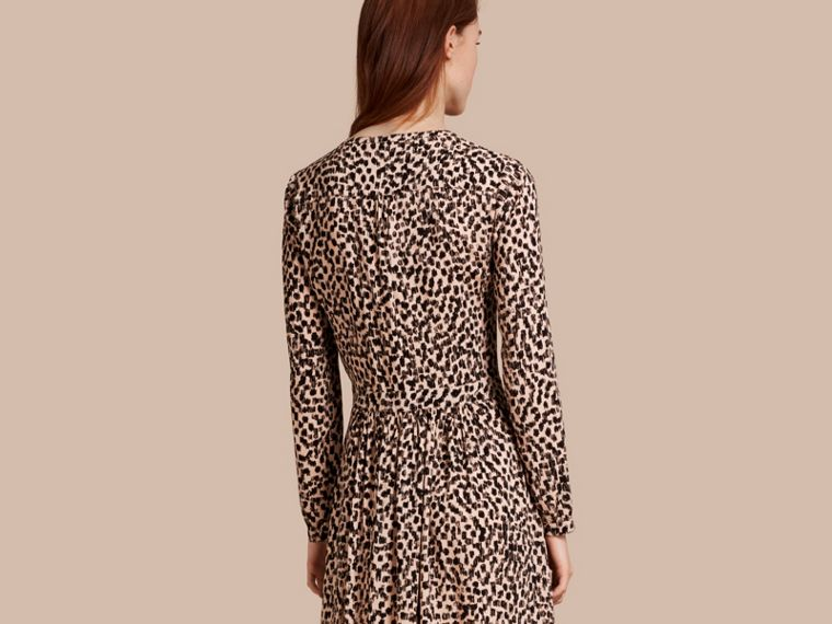 Nude Dash Print Shirt Dress Nude - cell image 1