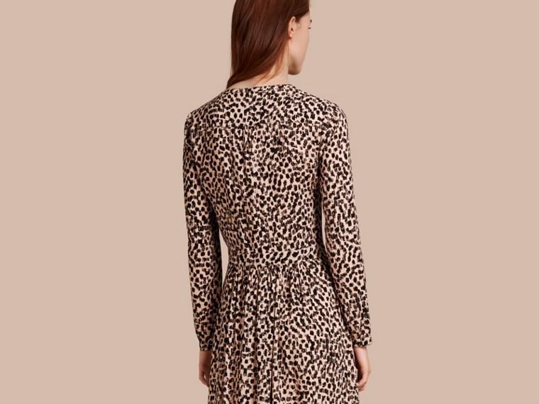 Crudo Vestido camisero con estampado de rayas Crudo - cell image 1