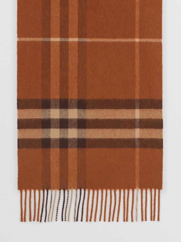 The Classic Check Cashmere Scarf in Chestnut | Burberry - cell image 3