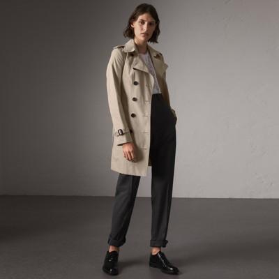 8bbee7bb7c3e the sandringham – mid length trench coat in stone women united kingdom