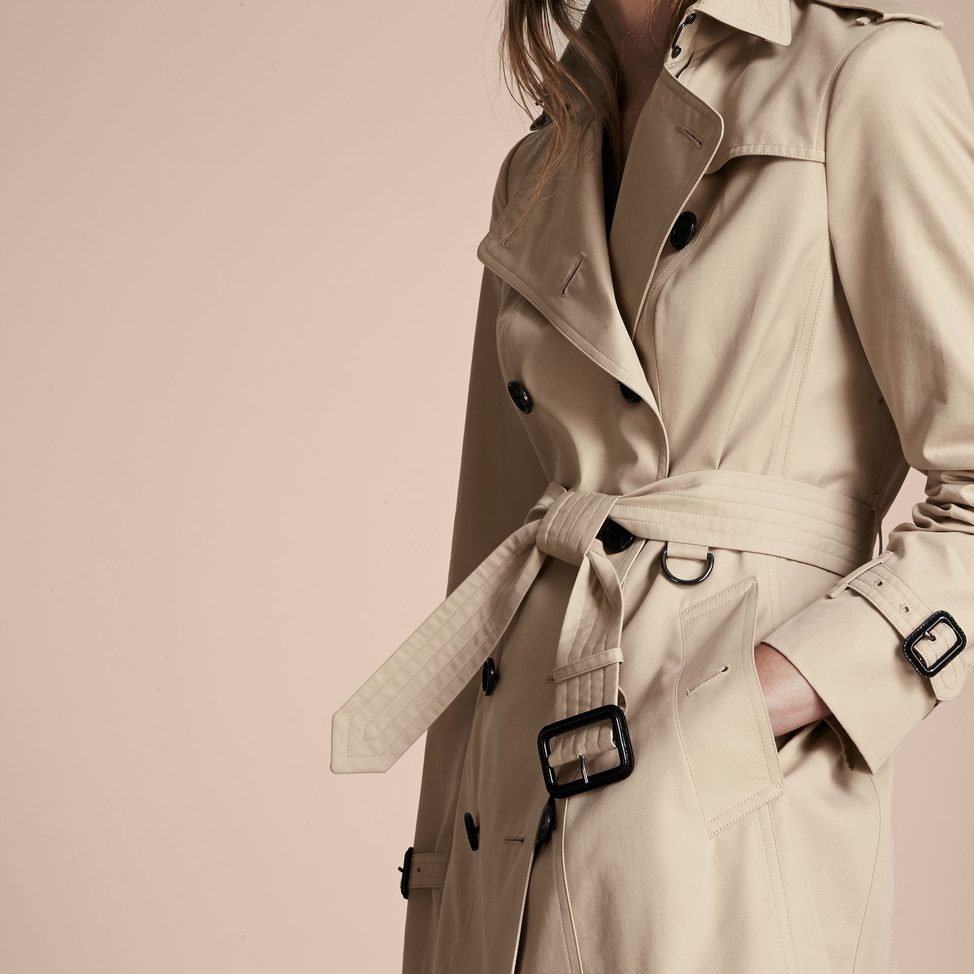 Stone The Sandringham – Mid-Length Heritage Trench Coat Stone - gallery image 5