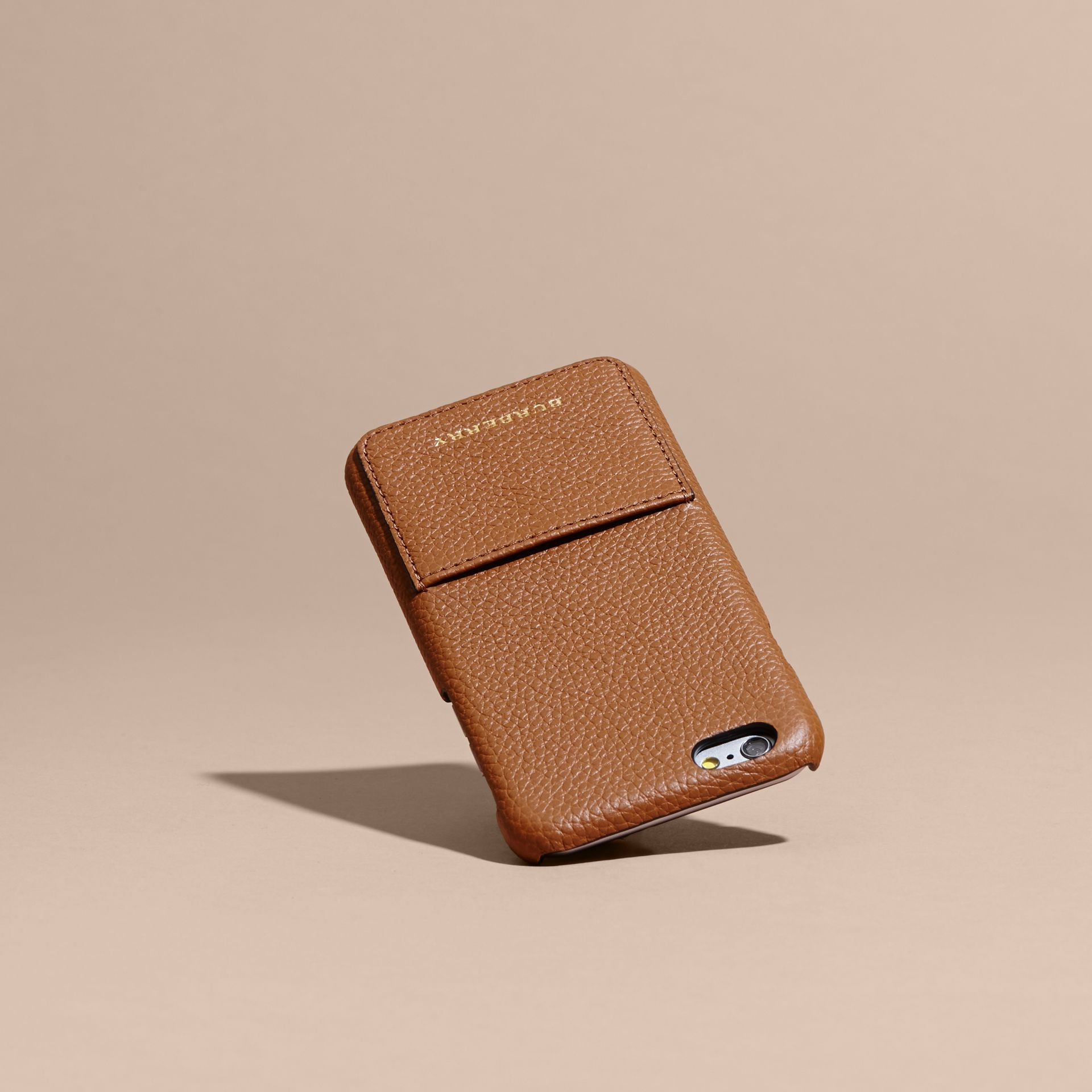 Tan Grainy Leather iPhone 6 Case - gallery image 4