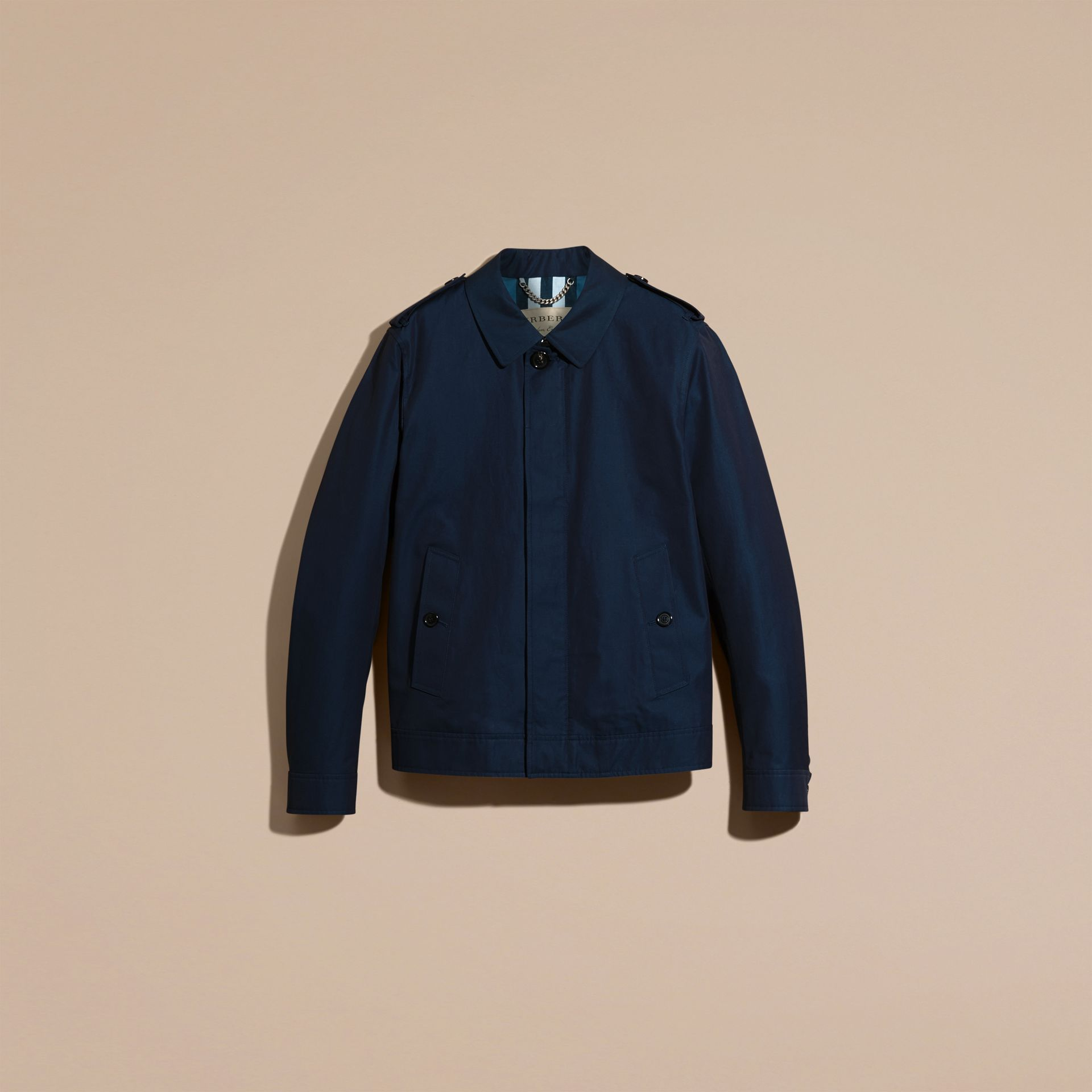 Flint blue Cotton Gabardine Jacket Flint Blue - gallery image 4