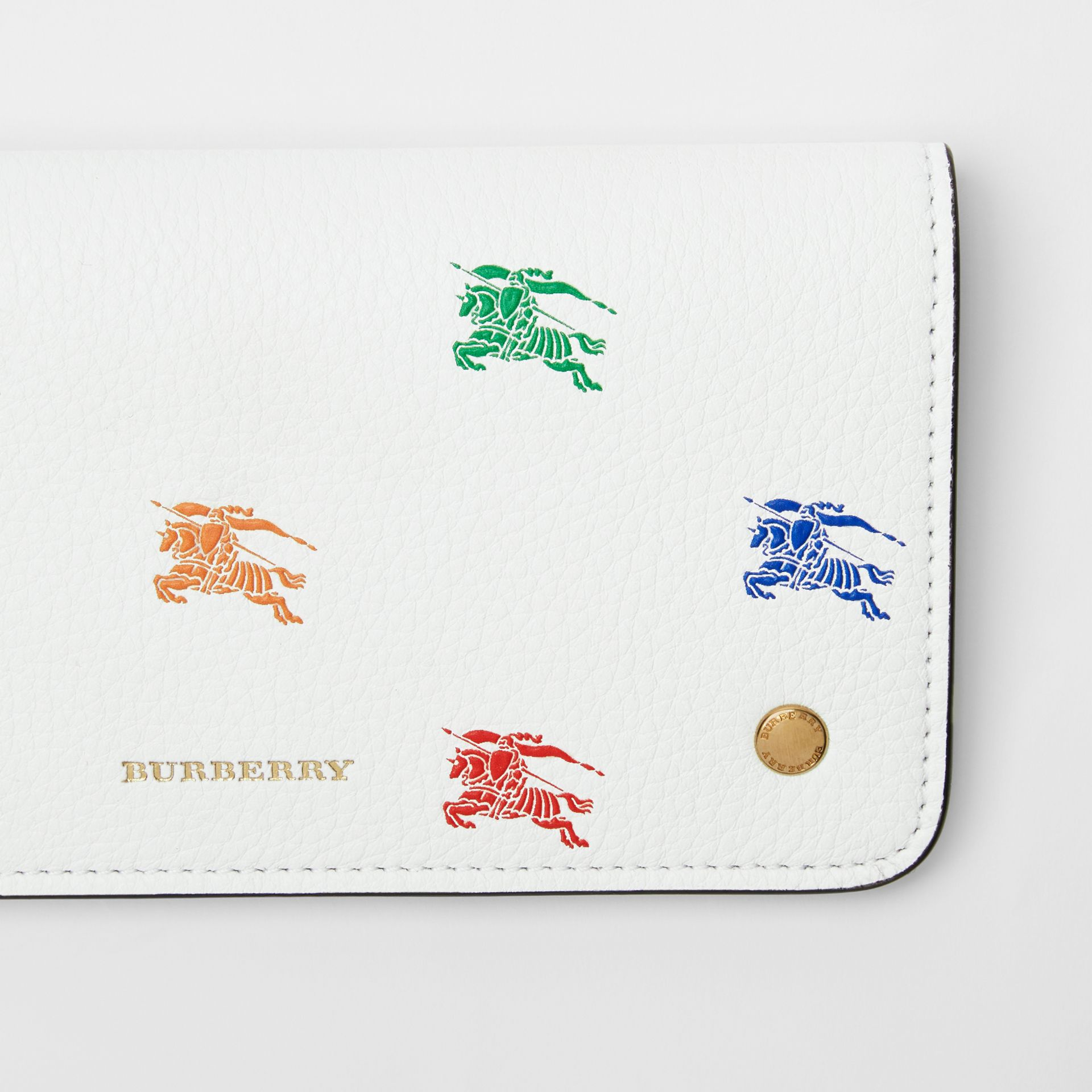 EKD Leather Phone Wallet in Chalk White - Women | Burberry - gallery image 1