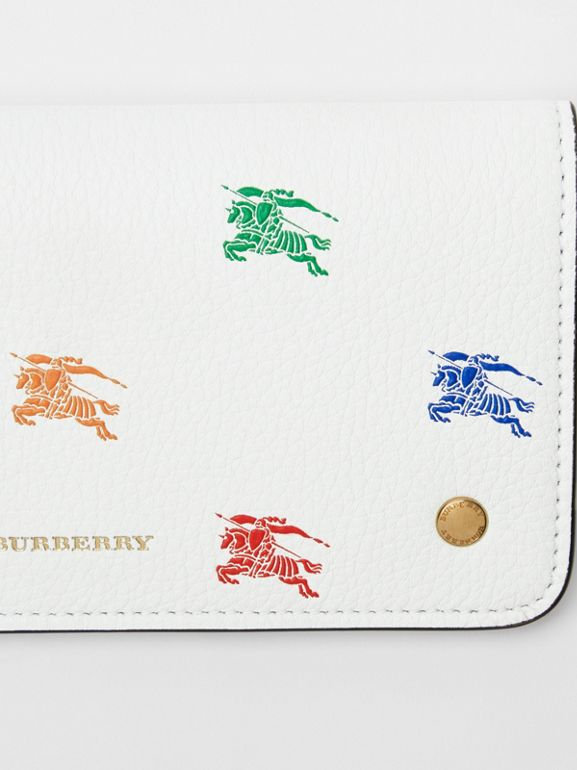 EKD Leather Phone Wallet in Chalk White - Women | Burberry - cell image 1