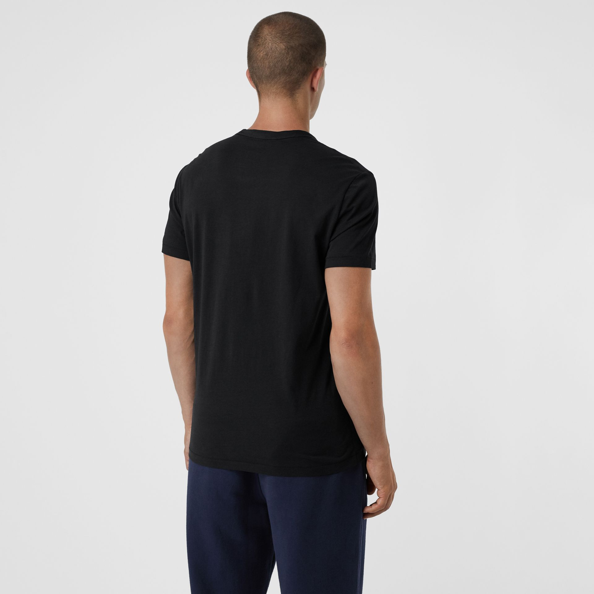 Cotton Jersey T-shirt in Black - Men | Burberry United States - gallery image 2