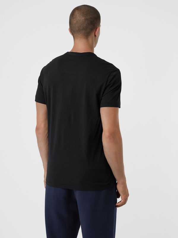 Cotton Jersey T-shirt in Black - Men | Burberry United States - cell image 2