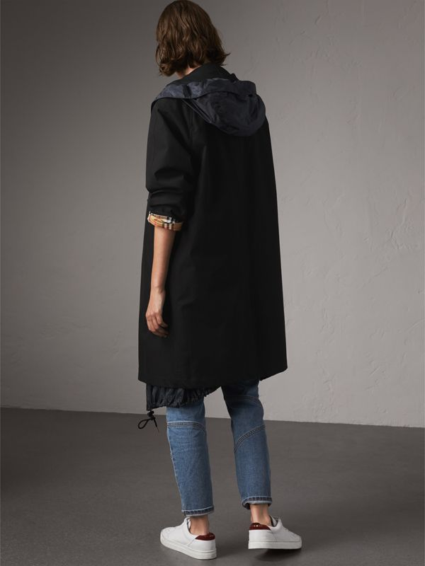 The Camden Car Coat in Black - Women | Burberry - cell image 2