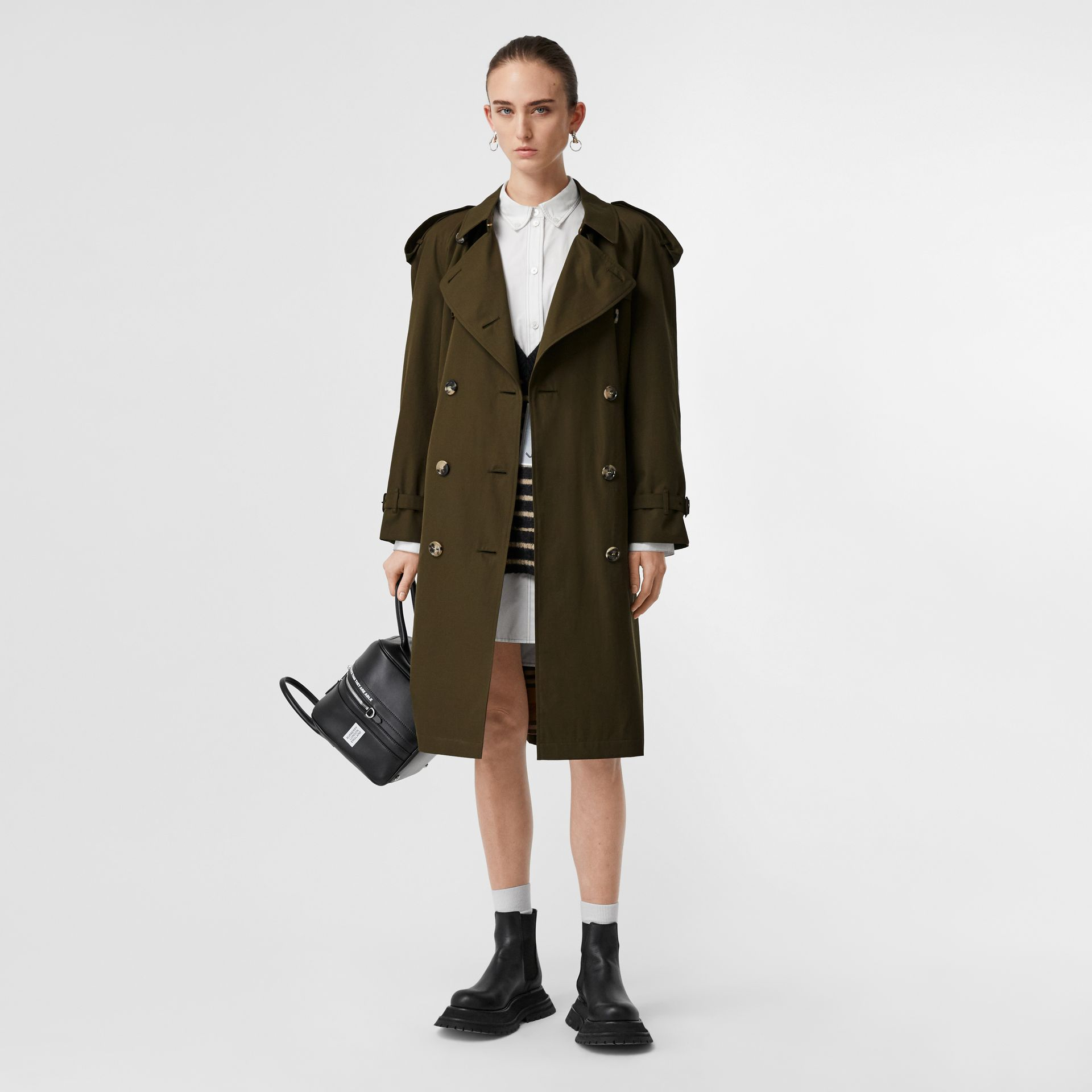 The Westminster Heritage Trench Coat in Dark Military Khaki - Women | Burberry - gallery image 0