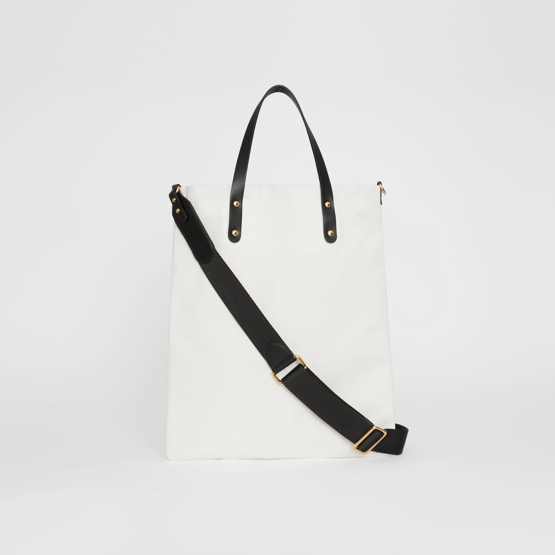 Kingdom Print Cotton Tote in Black | Burberry - gallery image 5