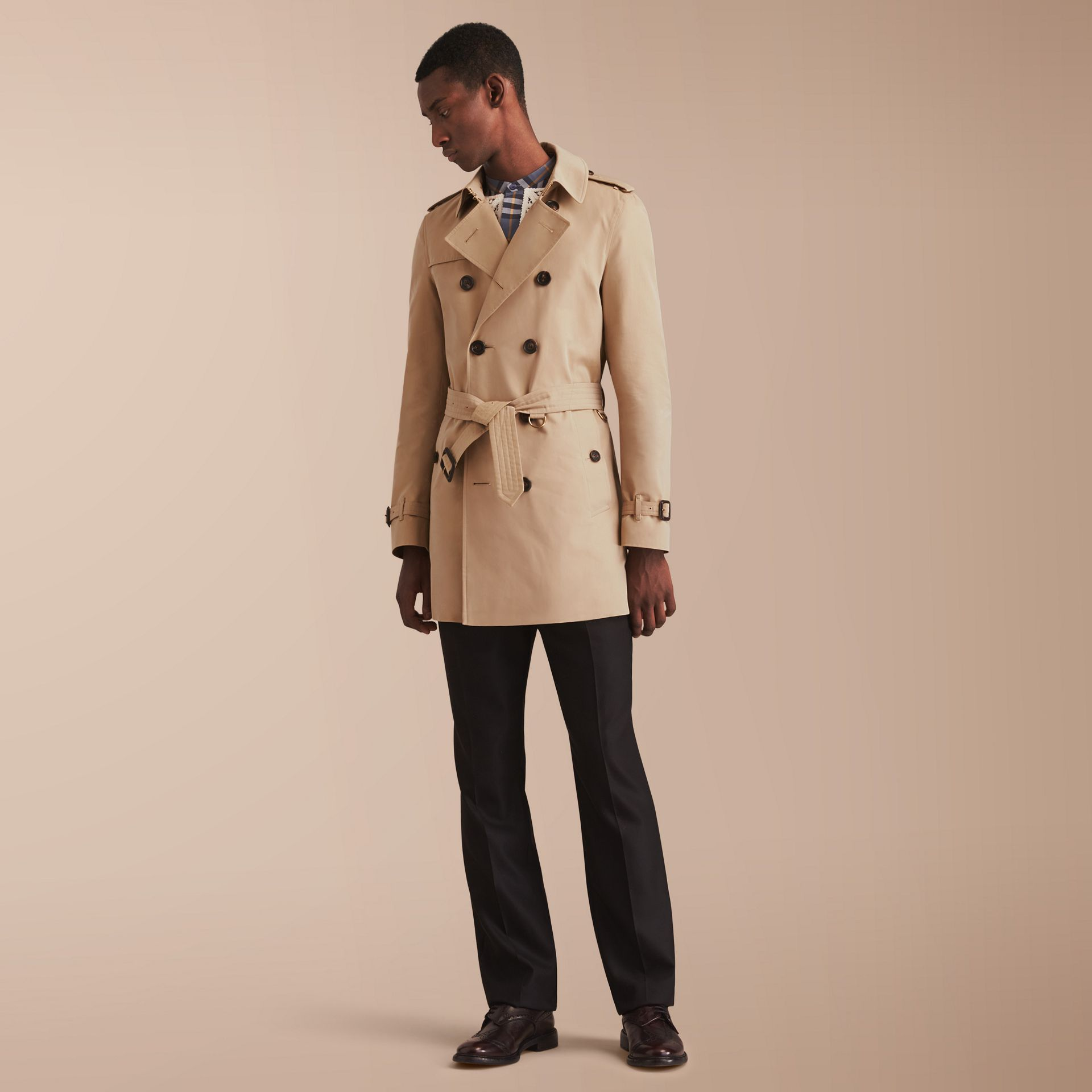 The Chelsea – Mid-length Heritage Trench Coat Honey - gallery image 8