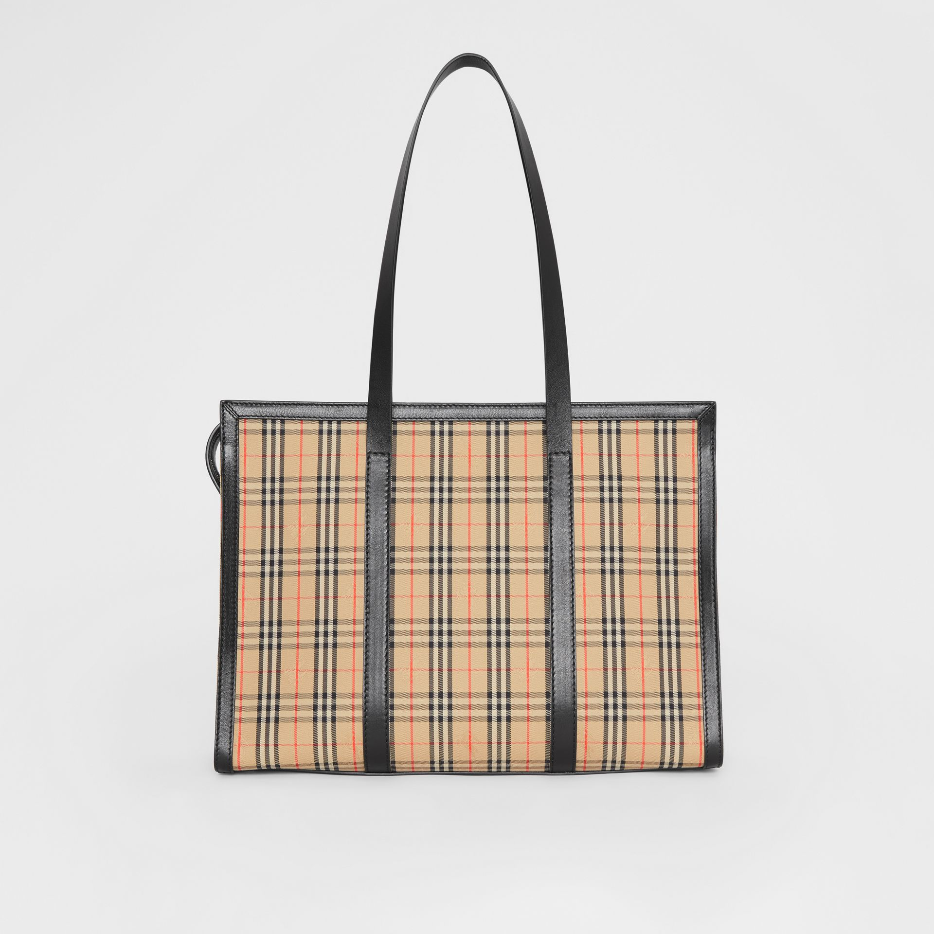 The 1983 Check Link Tote Bag in Black - Women | Burberry United Kingdom - gallery image 7