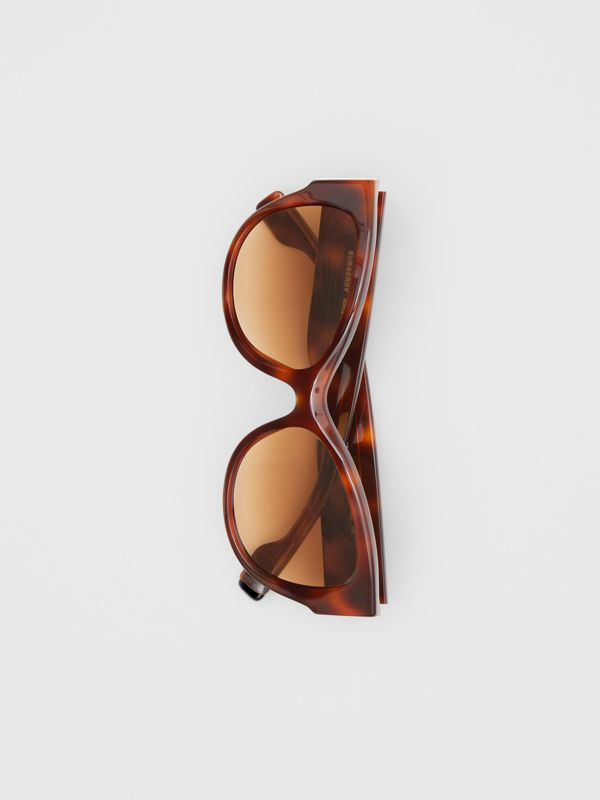 Butterfly Frame Sunglasses in Amber Tortoiseshell - Women | Burberry Canada - cell image 3