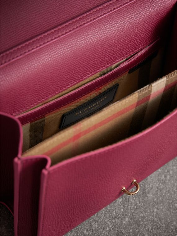 Small Grainy Leather Crossbody Bag in Berry Pink - Women | Burberry - cell image 3