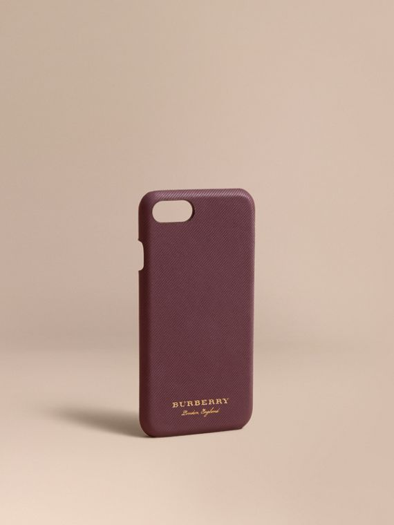 Funda para iPhone 7 en piel Trench (Vino)