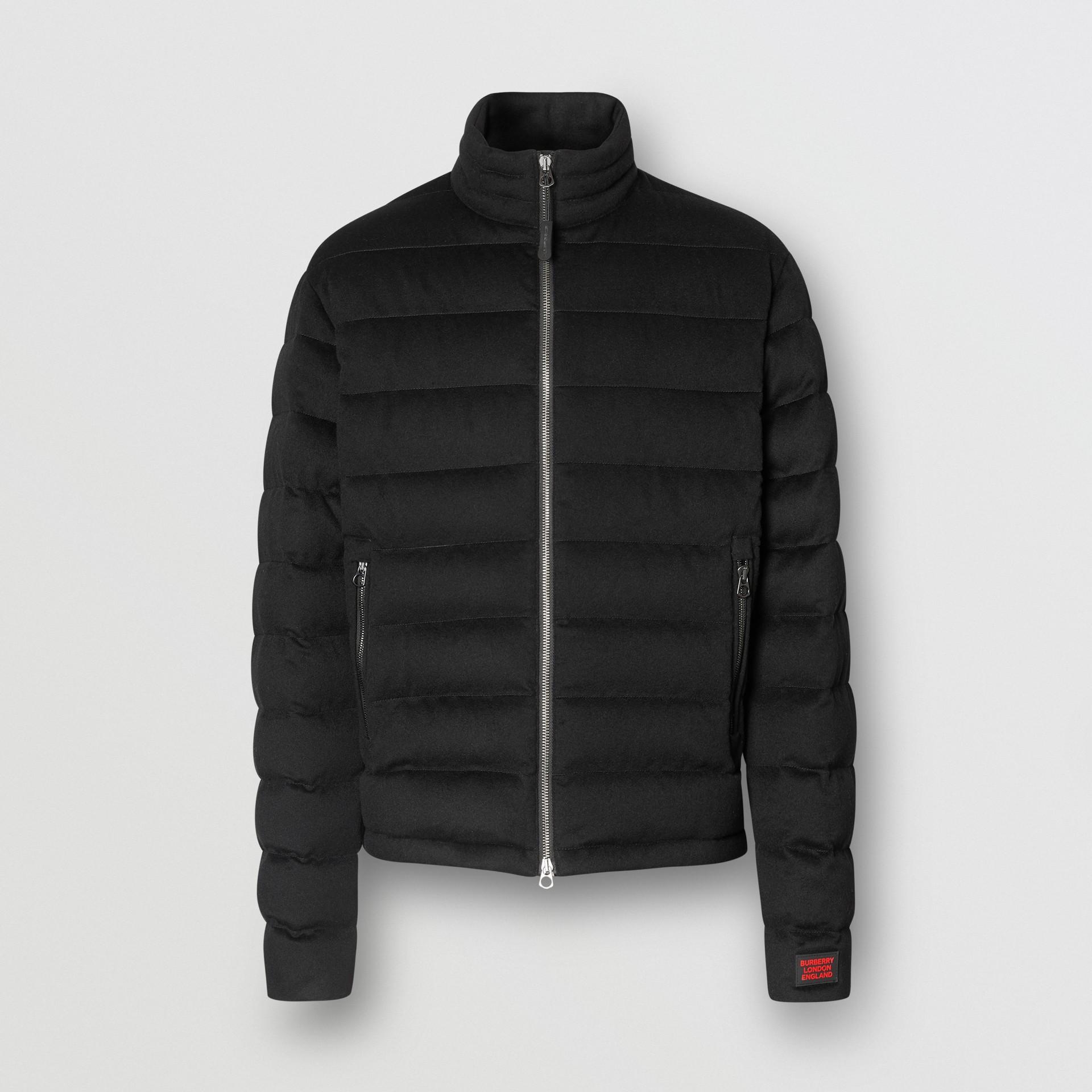 Lightweight Cashmere Puffer Jacket in Black - Men | Burberry United Kingdom - gallery image 3