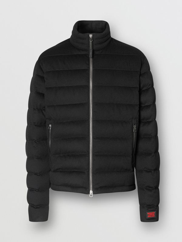 Lightweight Cashmere Puffer Jacket in Black - Men | Burberry United Kingdom - cell image 3