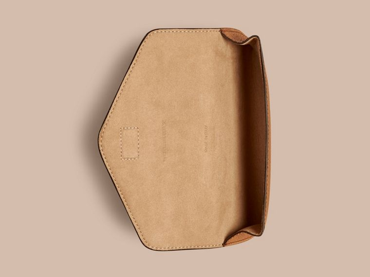 Tan Grainy Leather Eyewear Case Tan - cell image 2