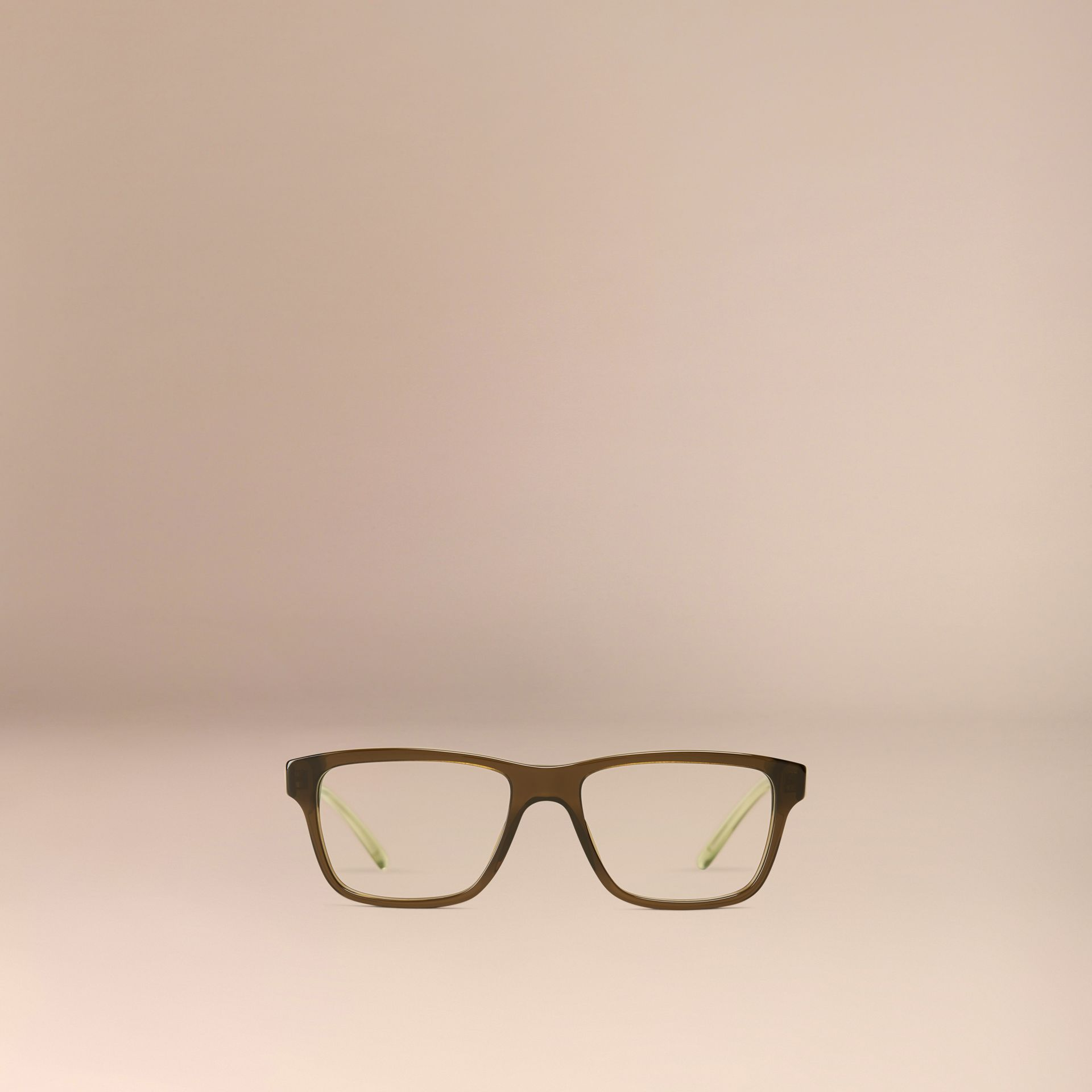 Olive Check Detail Rectangular Optical Frames Olive - gallery image 5