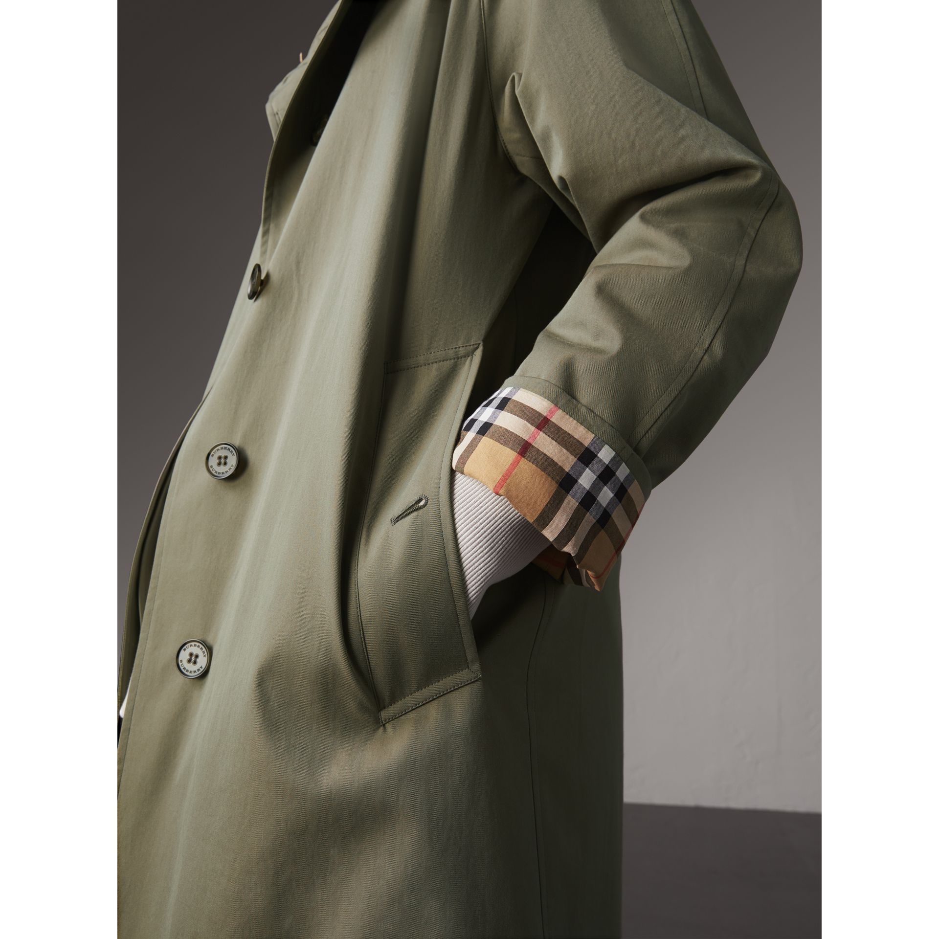 The Camden – Long Car Coat in Chalk Green - Women | Burberry - gallery image 4