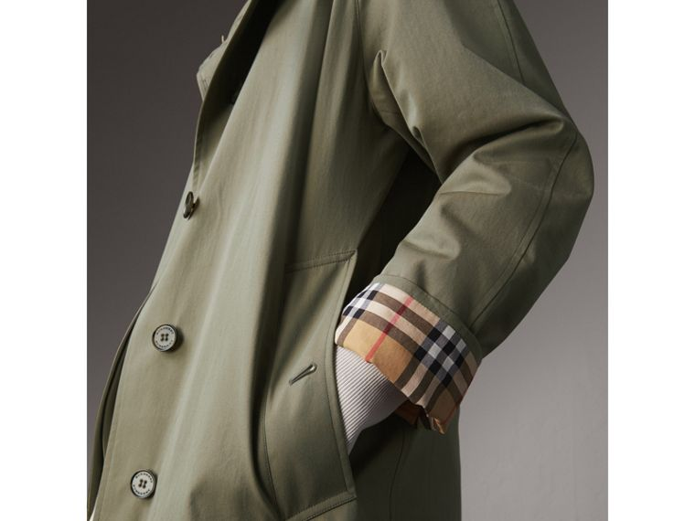 The Camden – Long Car Coat in Chalk Green - Women | Burberry Singapore - cell image 4