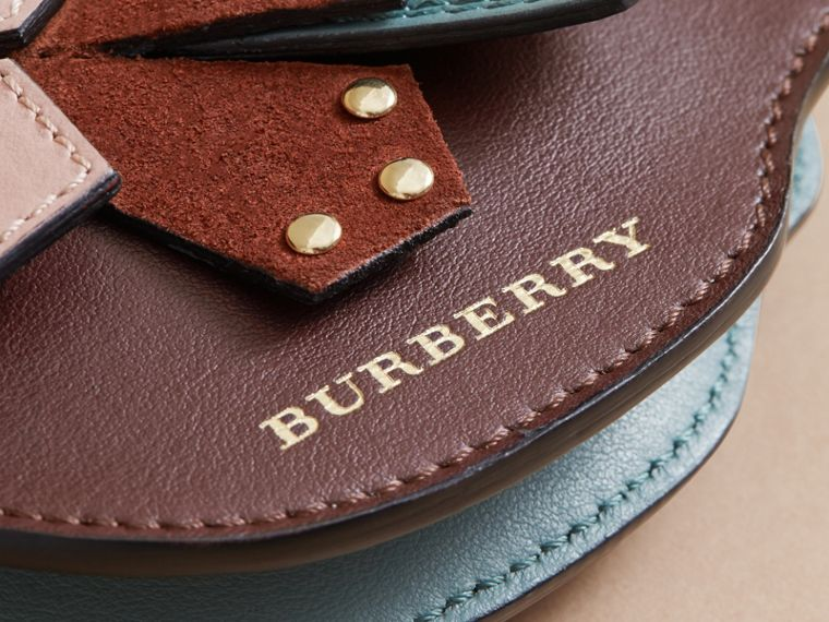 The Falcon – Leather and Haymarket Check Coin Case in Pale Aubergine - Women | Burberry - cell image 1