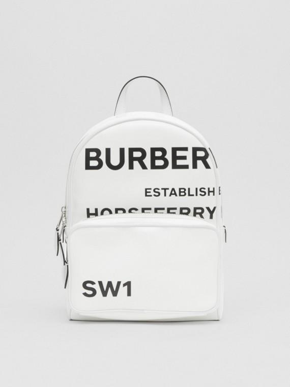 Horseferry 印花塗層帆布後背包 (白色)