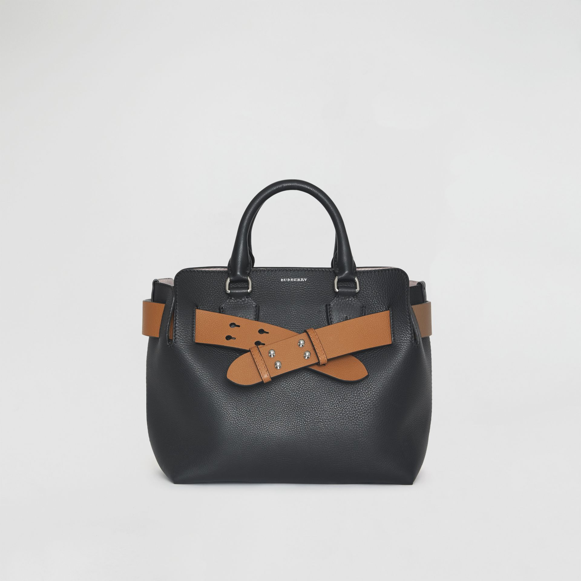 The Small Leather Belt Bag in Black - Women | Burberry - gallery image 0