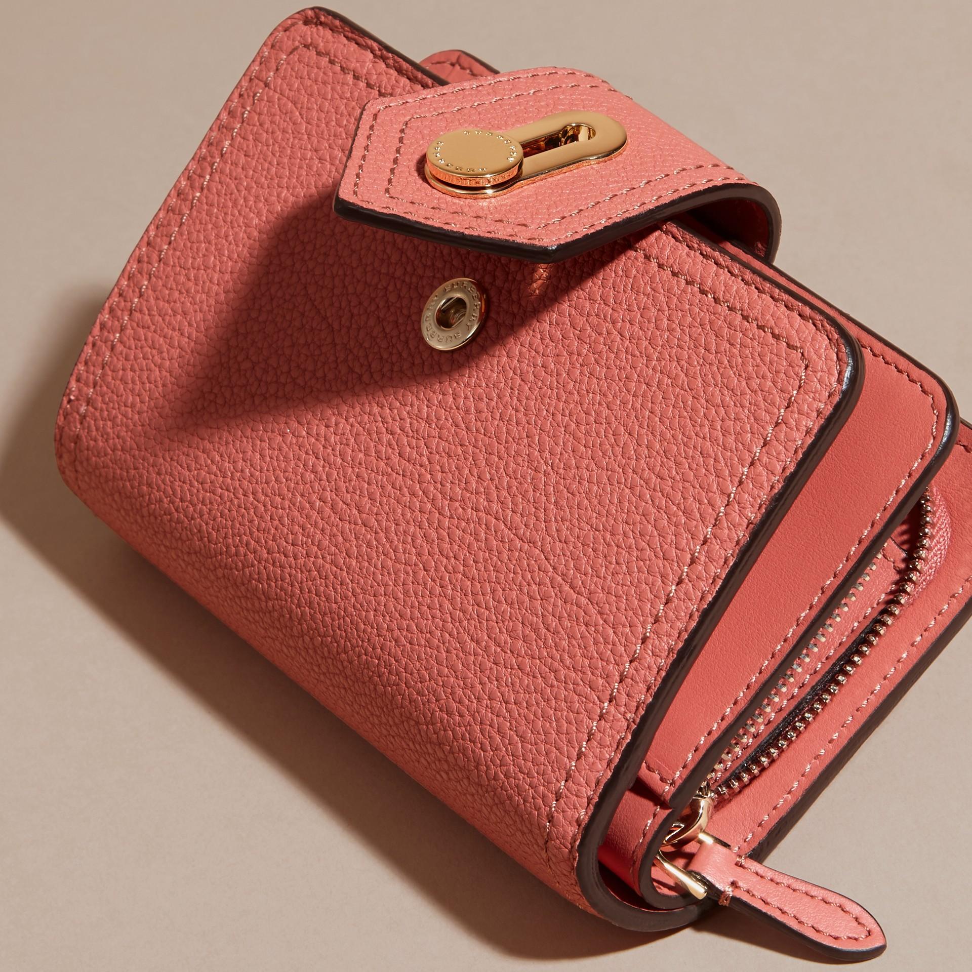 Rosa rame Portafoglio in pelle a grana Rosa Rame - immagine della galleria 3