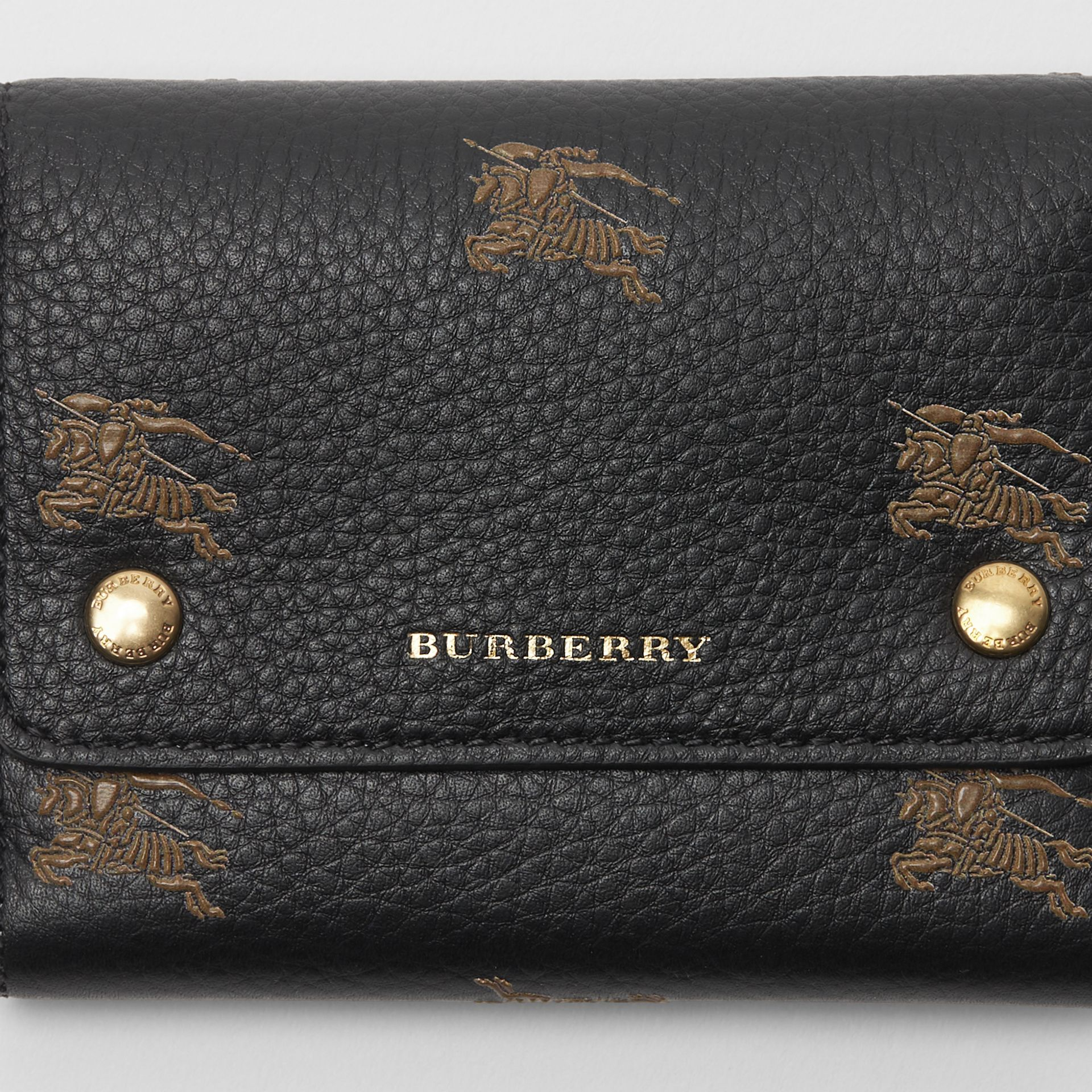 Small EKD Leather Wallet in Black - Women | Burberry - gallery image 1