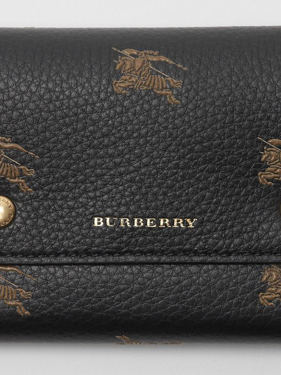 Small EKD Leather Wallet in Black - Women | Burberry - cell image 1