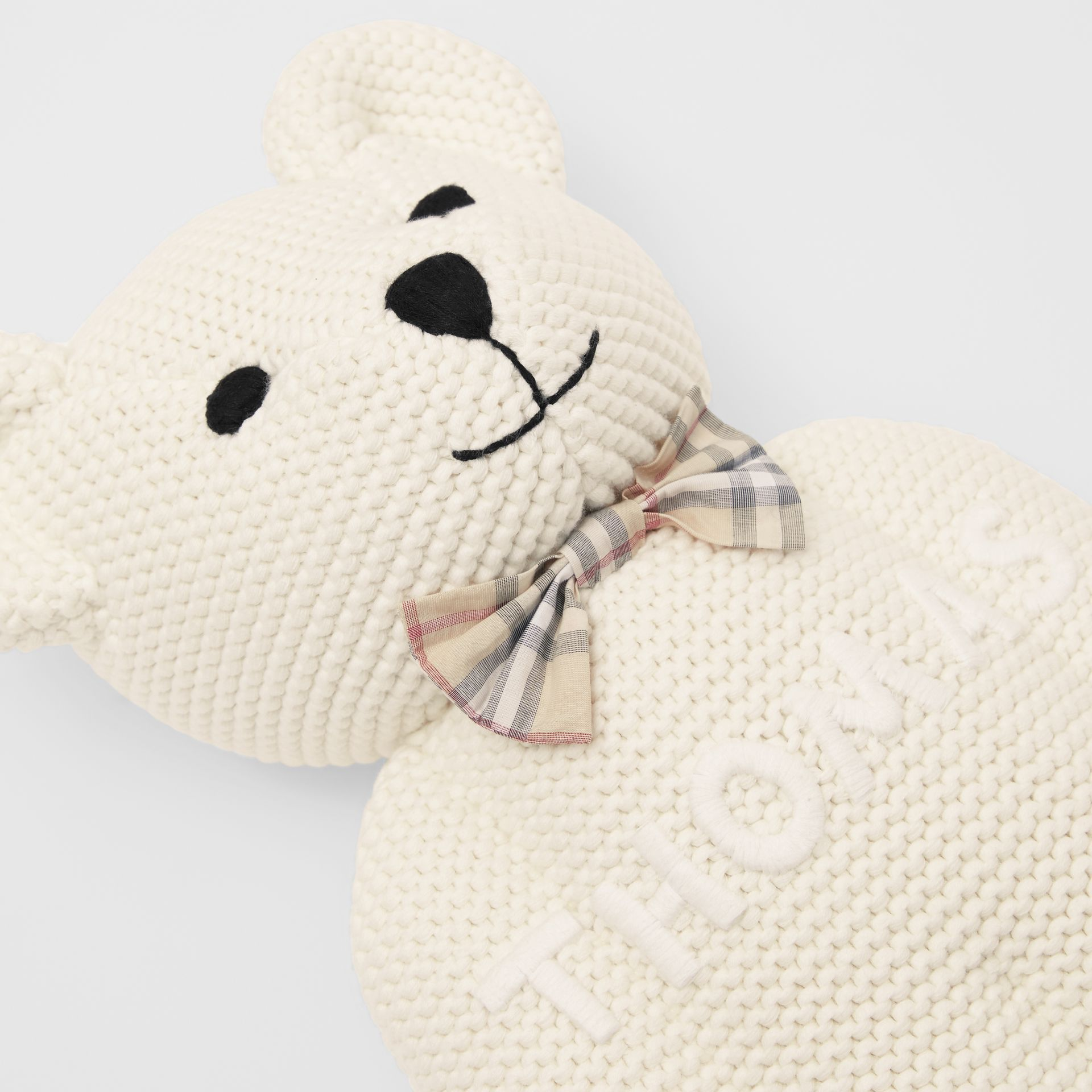 Cotton Cashmere Thomas Bear in Ivory - Children | Burberry United Kingdom - gallery image 1