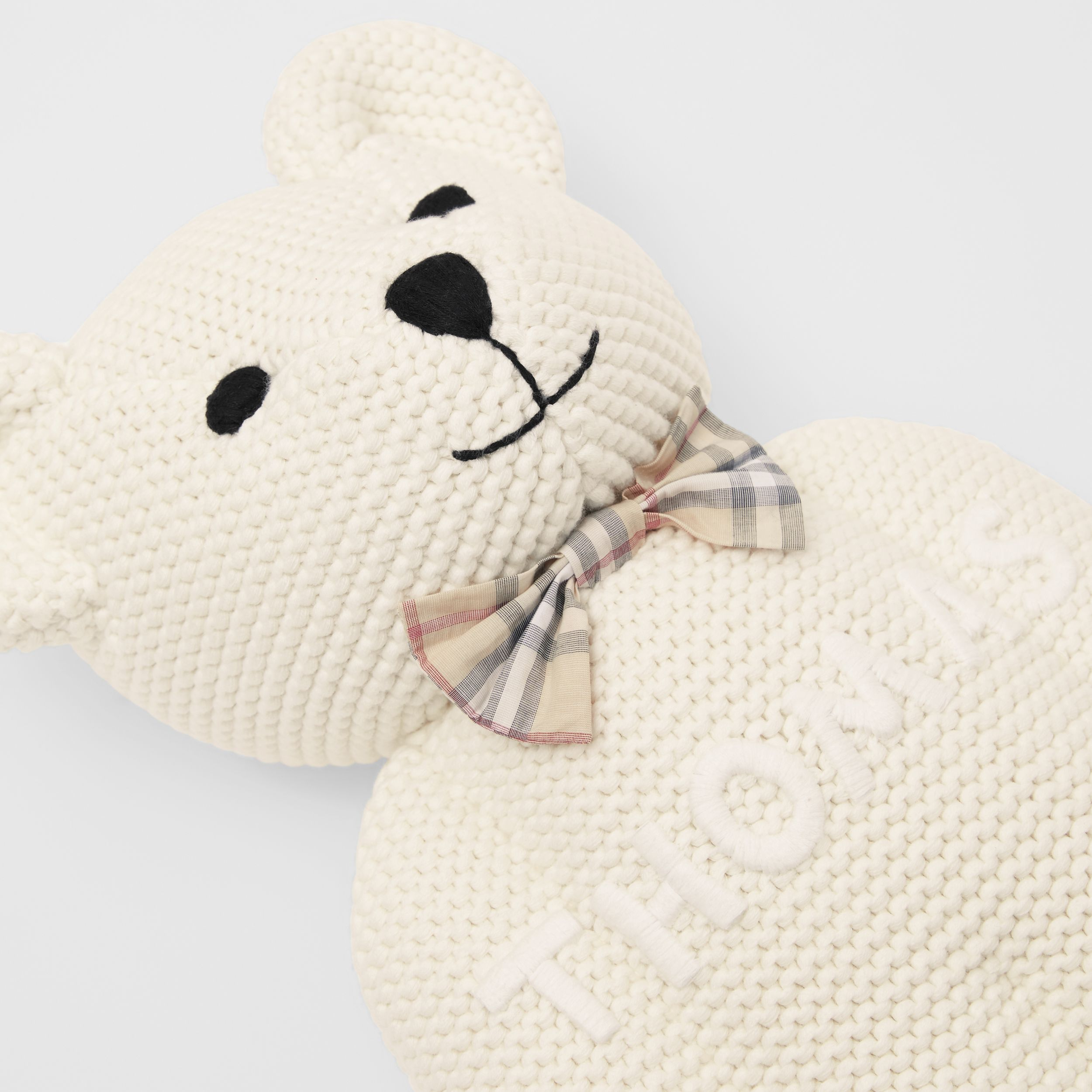 Cotton Cashmere Thomas Bear in Ivory | Burberry Canada - 2