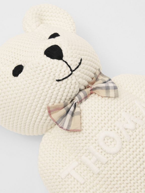Cotton Cashmere Thomas Bear in Ivory - Children | Burberry United Kingdom - cell image 1