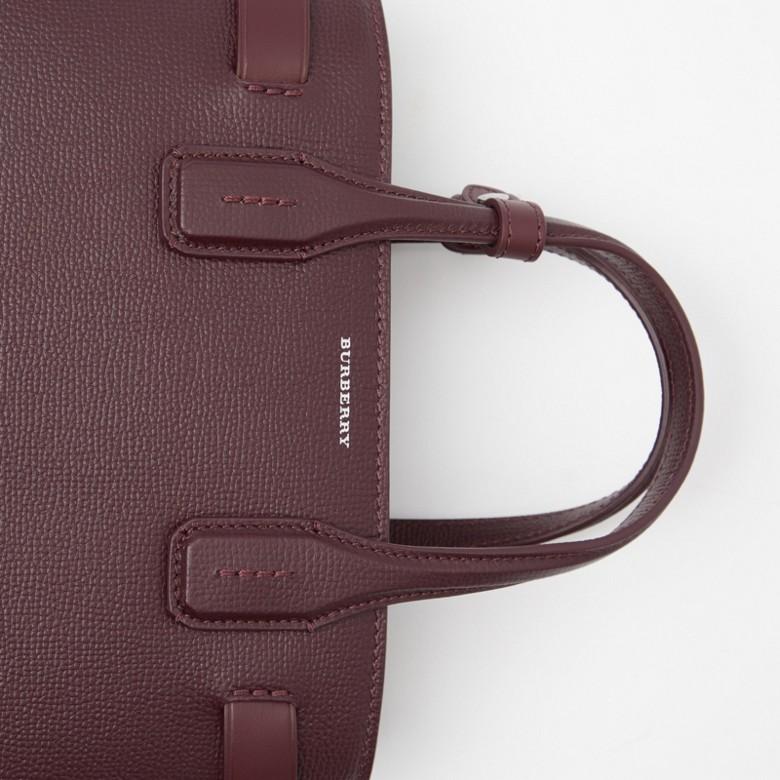 Burberry - Petit sac TheBanner en cuir avec Vintage check - 3