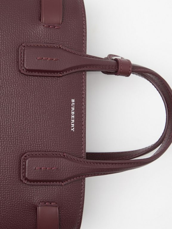 The Small Banner in Leather and Vintage Check in Mahogany Red - Women | Burberry Canada - cell image 1