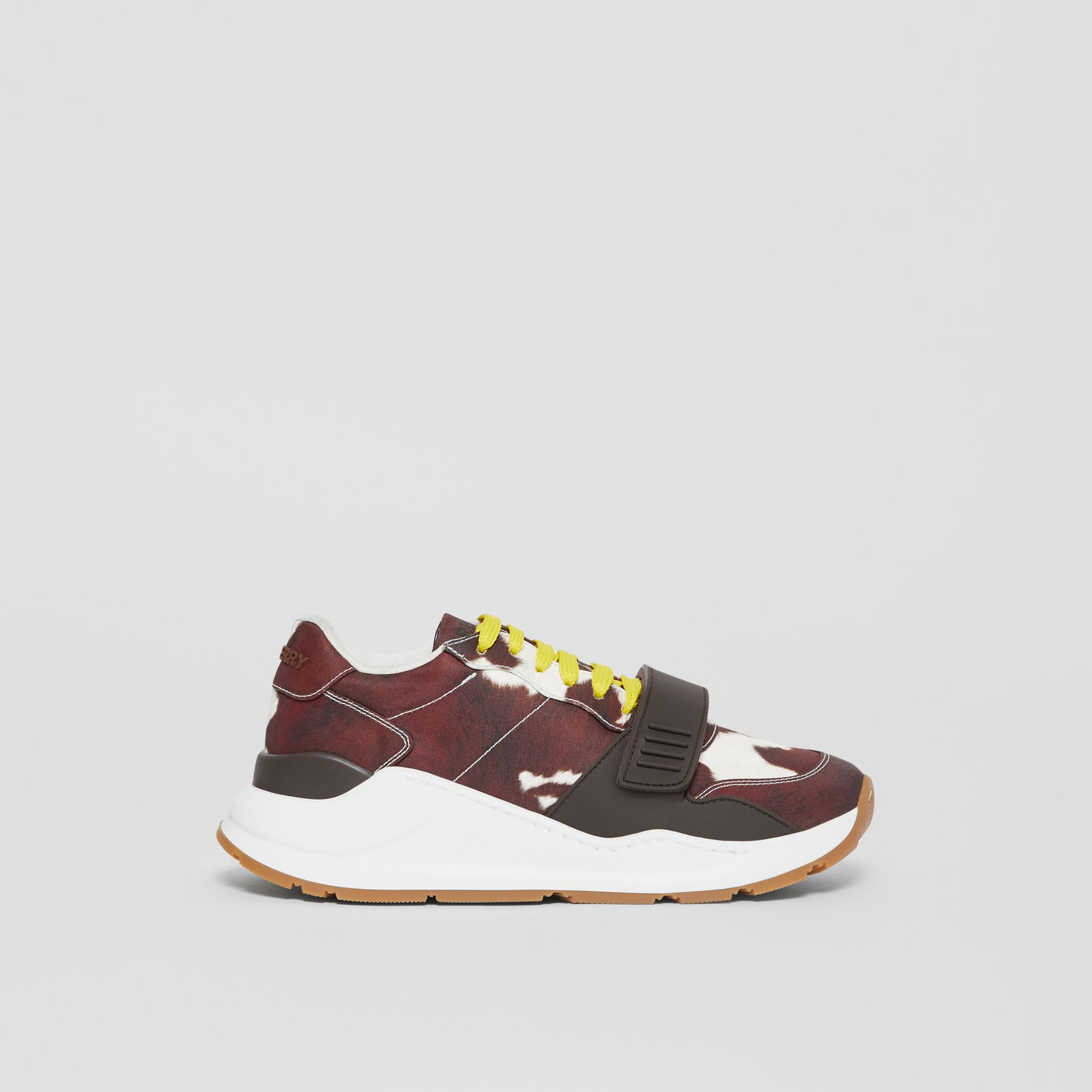 Cow Print Nylon Sneakers in Brown - Women | Burberry United States - gallery image 5