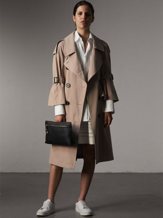 Pochette da polso in pelle Trench - Donna | Burberry - cell image 2