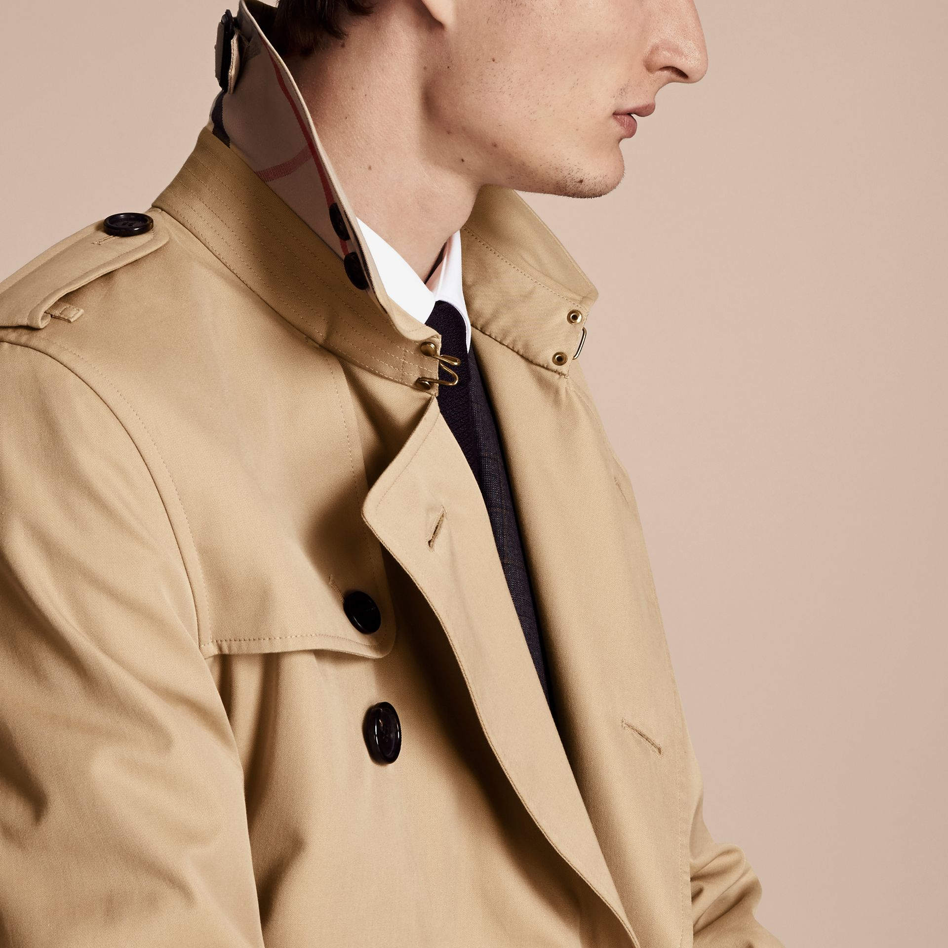 Honey The Kensington – Mid-Length Heritage Trench Coat Honey - gallery image 5