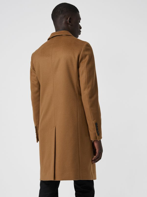 Wool Cashmere Tailored Coat in Dark Camel - Men | Burberry Australia - cell image 2