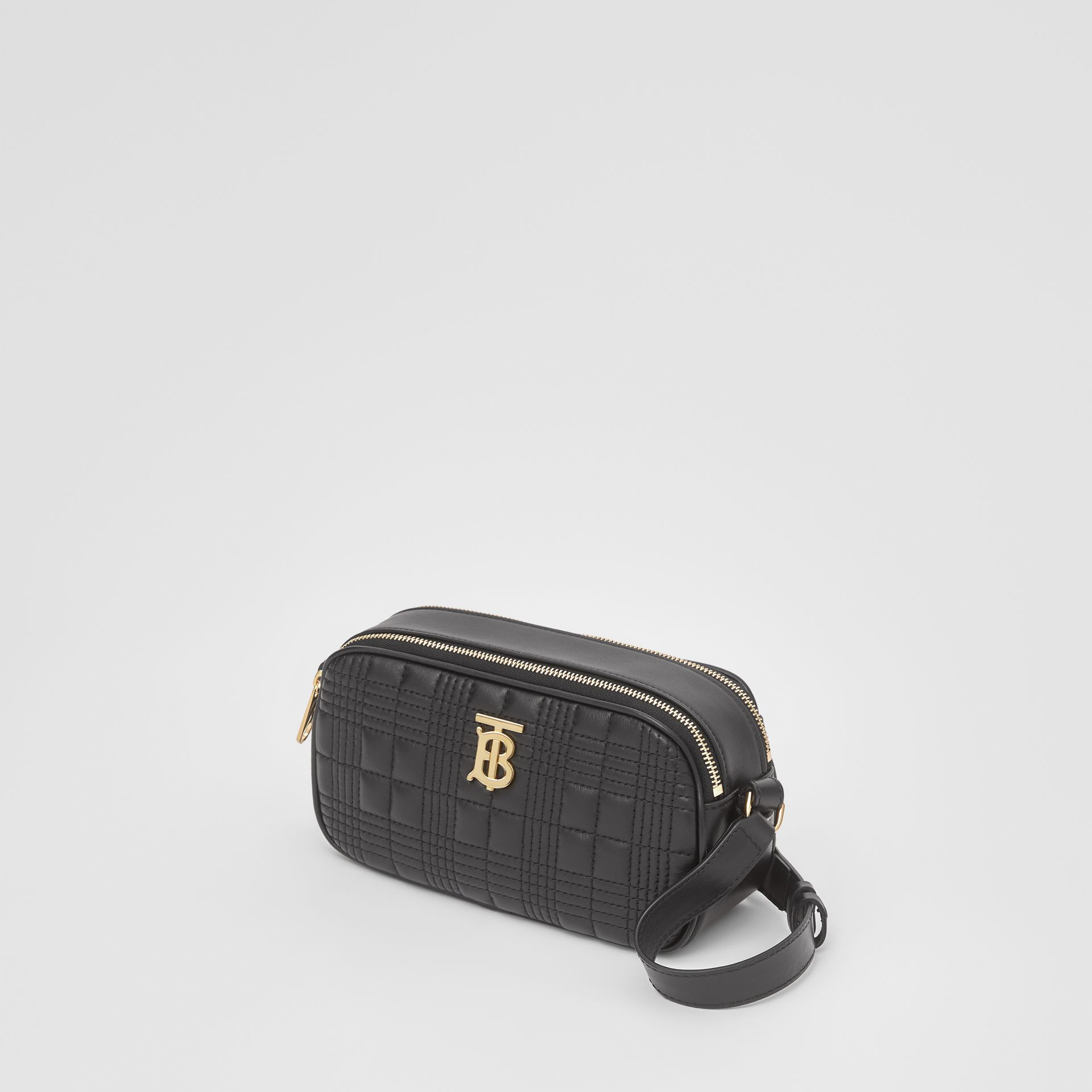 Mini Quilted Lambskin Camera Bag in Black   Burberry United Kingdom - gallery image 3