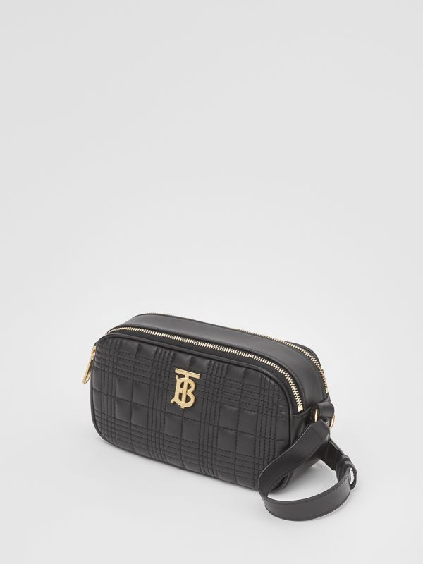 Mini Quilted Lambskin Camera Bag in Black   Burberry United Kingdom - cell image 3