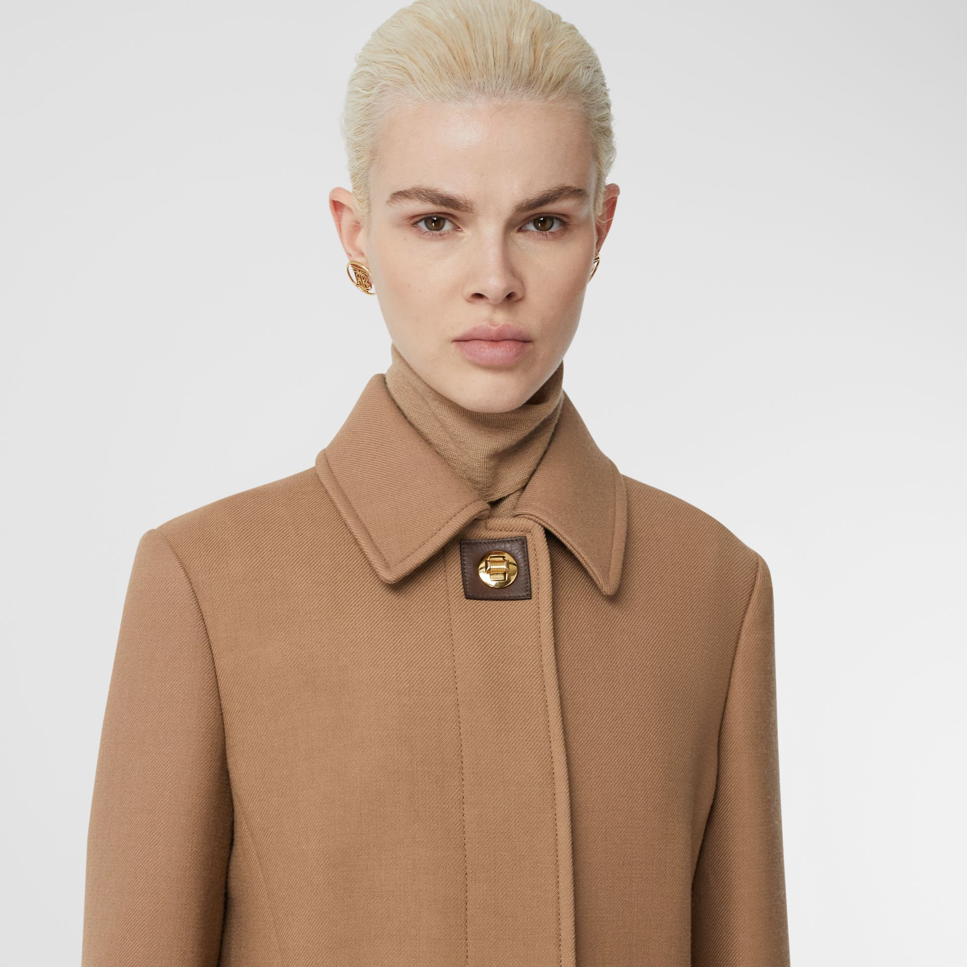 Double-faced Wool Tailored Coat in Fawn - Women | Burberry - gallery image 1