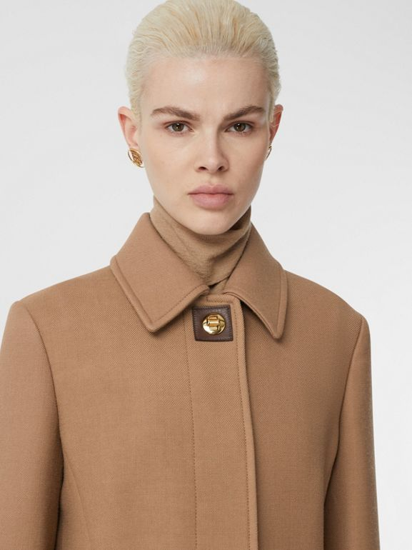 Double-faced Wool Tailored Coat in Fawn - Women | Burberry - cell image 1