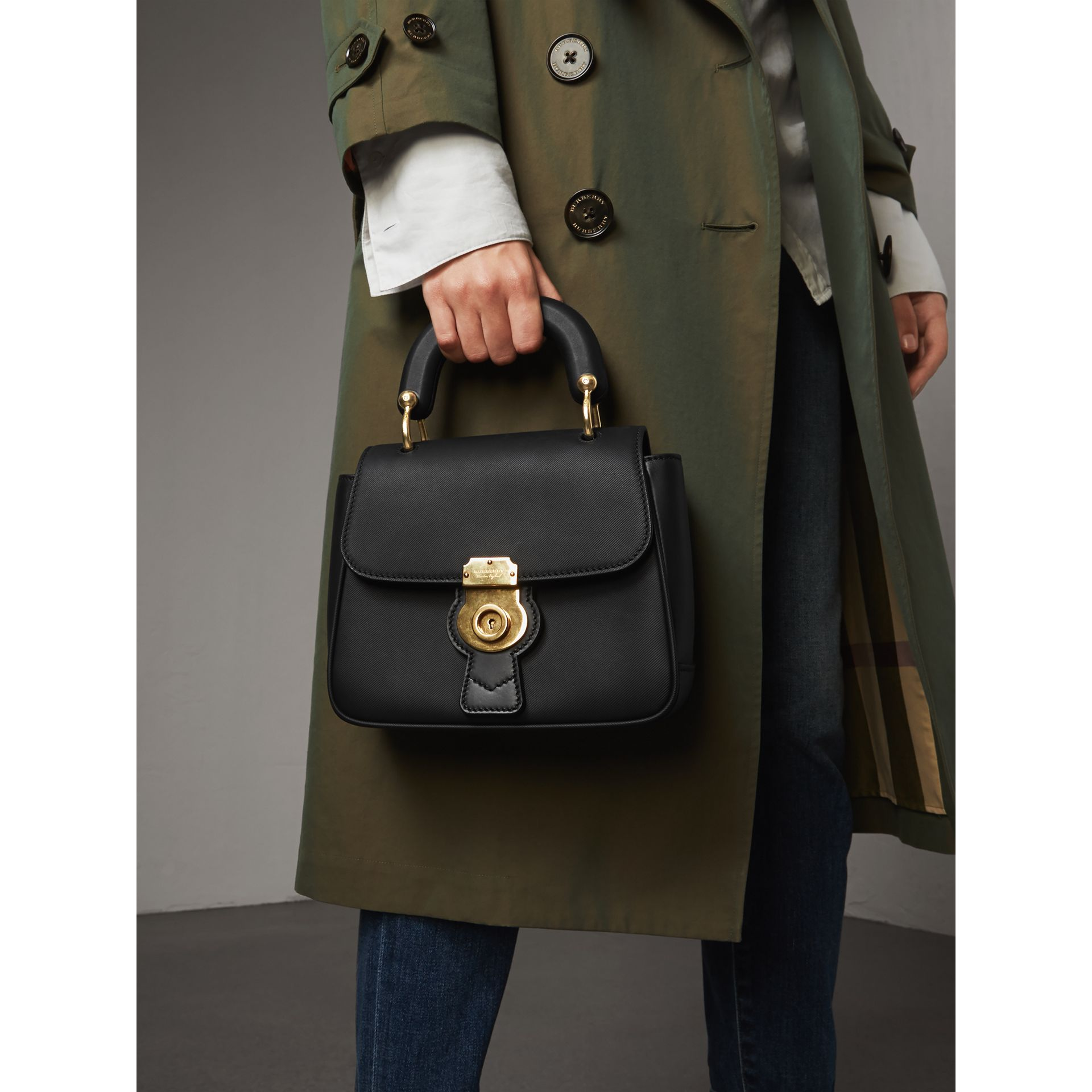 The Small DK88 Top Handle Bag in Black - Women | Burberry - gallery image 3