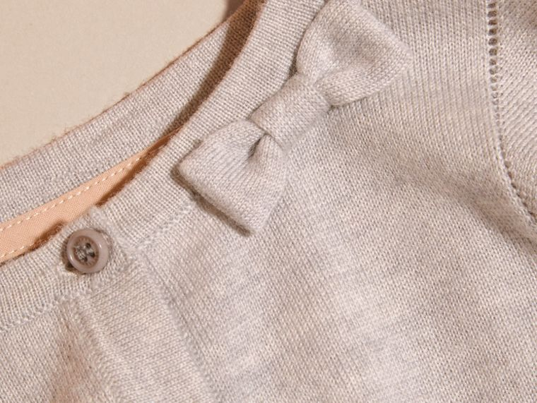 Light grey melange Lightweight Merino Wool Cardigan Grey Melange - cell image 1