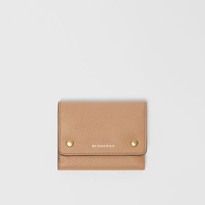 Small Leather Folding Wallet by Burberry