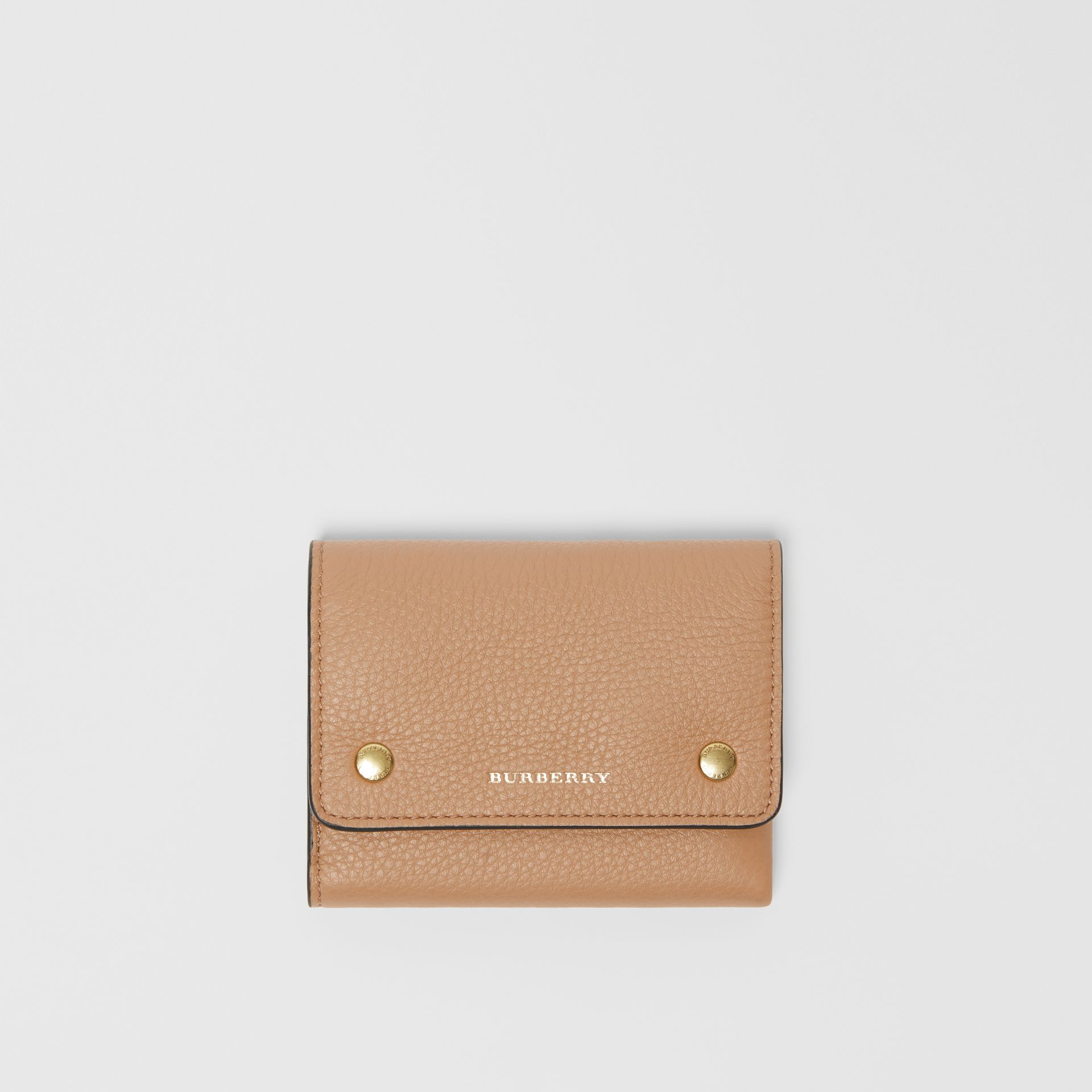 Small Leather Folding Wallet in Light Camel - Women | Burberry - gallery image 0