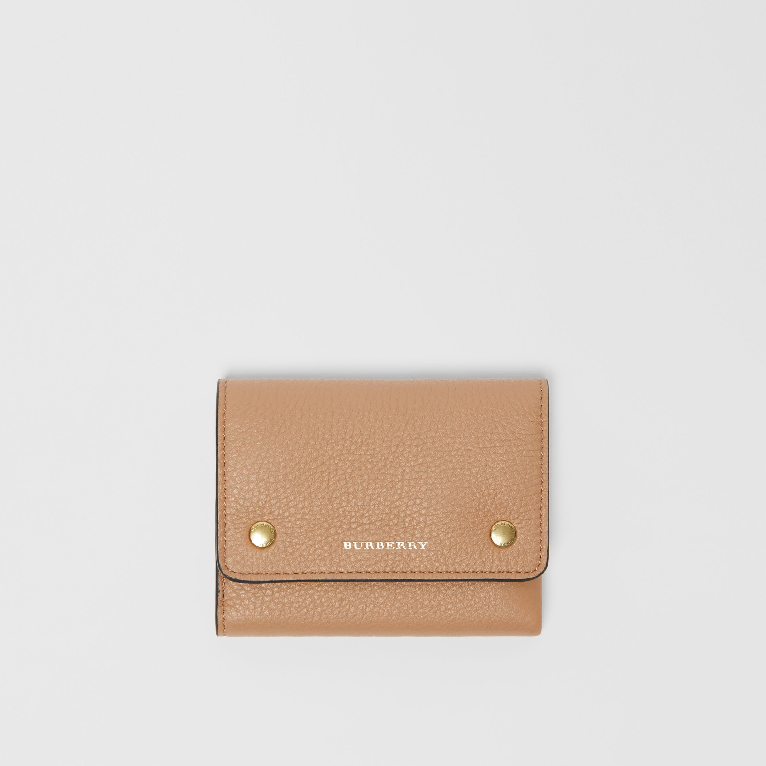 Small Leather Folding Wallet in Light Camel - Women | Burberry United Kingdom - 1
