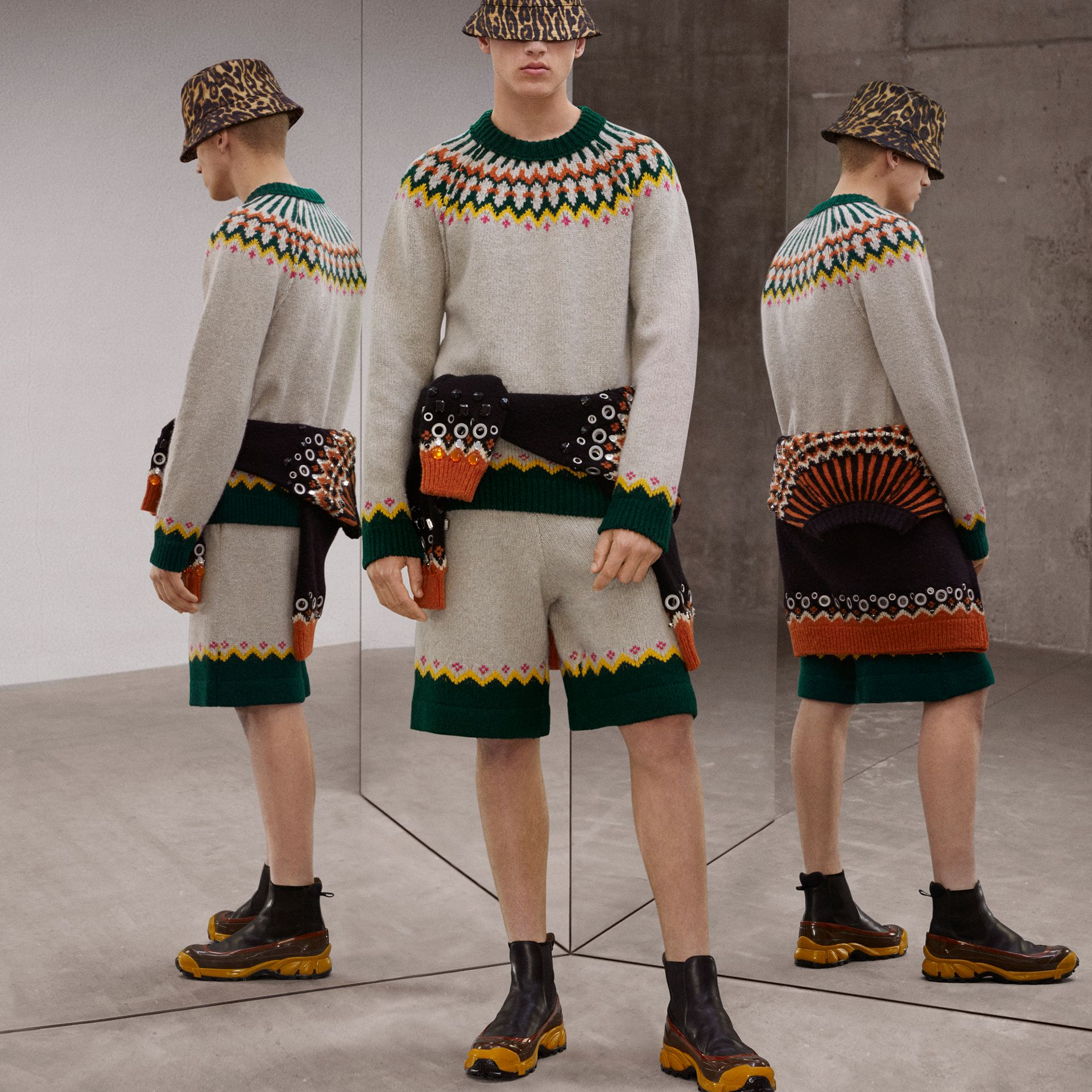 Fair Isle Wool Sweater in Sesame - Men | Burberry - gallery image 1